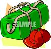Duffel Bag and Cap clipart