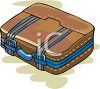 Leather Suitcase clipart