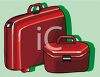 Matching Luggage clipart