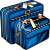 Matching Set of Suitcases clipart