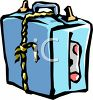 Suitcase Tied Shut with Rope clipart