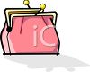 Old Fashioned Coin Purse clipart