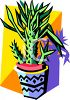 Potted Cactus Plant clipart