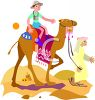 Archaeologist Being Transported on a Camel clipart