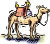 Camel with a Saddle clipart