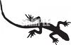 Black and White Shape of a Lizard clipart