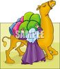 Arabian Man Packing a Camel clipart