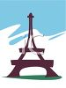 The Eiffel Tower clipart