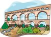 Aqueduct at Pont du Gard, France clipart