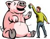 Feeding the Greedy Wall Street Pigs clipart