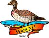 The Nene, State Bird of Hawaii clipart