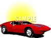 Italian Sports Car clipart