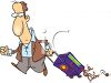 Man Returning from a Trip  clipart