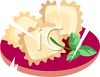 Plate of Ravioli clipart