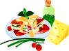 Plate of Lasagna with Cheese  clipart