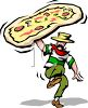 Pizza-Italian Man Restaurant Logo clipart