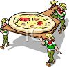 Baking Pizza-Italian Man Restaurant Logo clipart