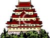 Large Asian Style Building clipart