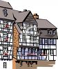 Tudor Buildings clipart