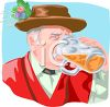 German Man Drinking Beer clipart