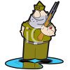 Cartoon of an Army Soldier clipart