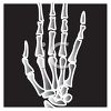 Cartoon X-ray of a Hand clipart