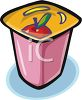 Snack Size Container of Yogurt clipart
