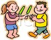 Kids Eating Popsicles clipart