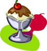 Chocolate Sundae clipart