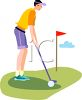 Young Man Playing Golf clipart