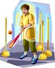 Boy Playing T-Ball clipart