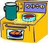 Yellow Kitchen Range clipart
