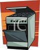 Stainless Stove clipart