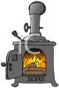 Old Fashioned Wood Stove clipart