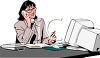 Receptionist on the Phone clipart