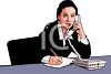 African American Businesswoman Talking on the Phone clipart