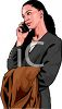 African American Woman Talking on the Telephone clipart