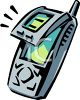 Flip Style Cell Phone clipart