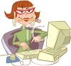 Efficient Office Assistant clipart
