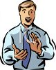 Man Clapping clipart