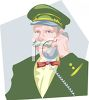 Hotel Captain on the Phone clipart