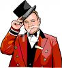 Dapper Doorman clipart