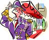 Cartoon Apartment Building Doorman clipart