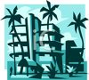 Vacation Hotel on the Beach clipart