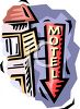 Motel Sign clipart