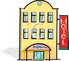 Three Story Motel clipart