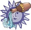 Aquarius of the Zodiac clipart
