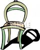 Simple Chair with a Shadow clipart
