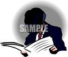 Man Reading the Paper clipart