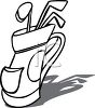 Simple Clip Art of Golf Clubs clipart